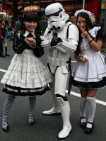 A stormtrooper and maids